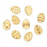 Laser Cut Easter Egg Themed Pack of 9 Shapes
