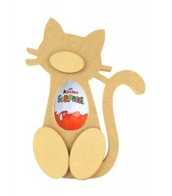 18mm Freestanding Cat Kinder Egg Holder with 3D Nose & Feet