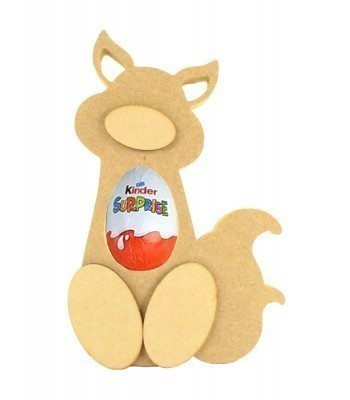 18mm Freestanding Fox Kinder Egg Holder with 3D Nose & Feet