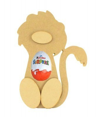 18mm Freestanding Lion Kinder Egg Holder with 3D Nose & Feet