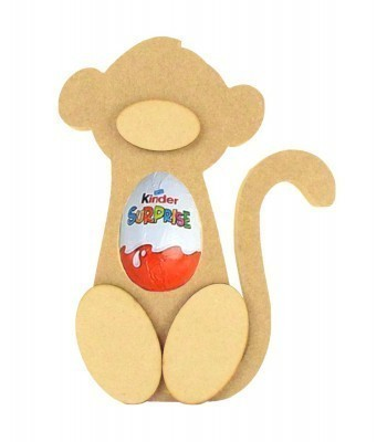 18mm Freestanding Monkey Kinder Egg Holder with 3D Nose & Feet