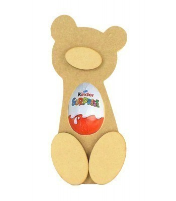 18mm Freestanding Teddy Bear Kinder Egg Holder with 3D Nose & Feet