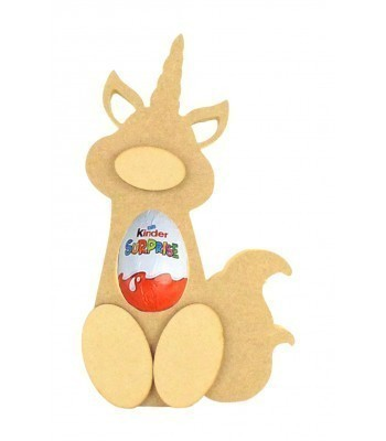 18mm Freestanding Unicorn with Tail Kinder Egg Holder with 3D Nose & Feet
