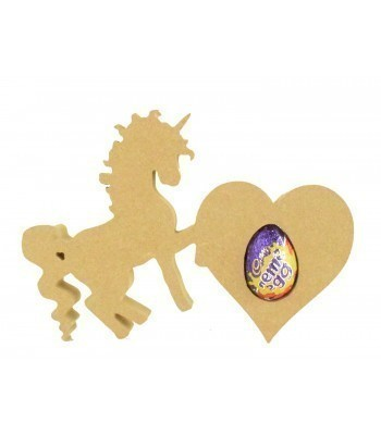 18mm Freestanding Easter CREME EGG Holder - Unicorn with Heart