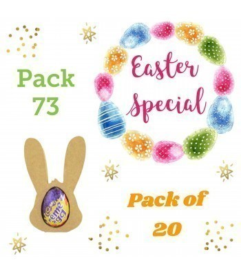 Special Offer 18mm Freestanding MINI Easter Rabbit Head CREME EGG Holders - Pack of 20