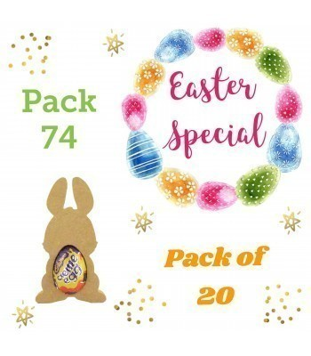 Special Offer 18mm Freestanding MINI Easter Rabbit (Design 2) CREME EGG Holders - Pack of 20