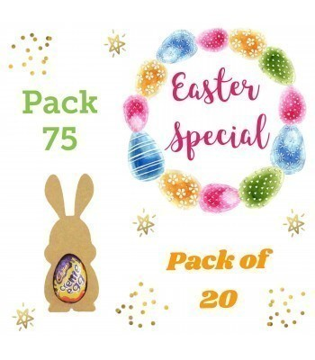 Special Offer 18mm Freestanding MINI Easter Rabbit (Design 3) CREME EGG Holders - Pack of 20