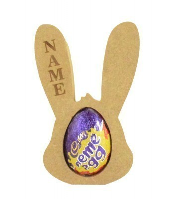 18mm Freestanding Personalised Engraved MINI Easter Rabbit Head CREME EGG Holders