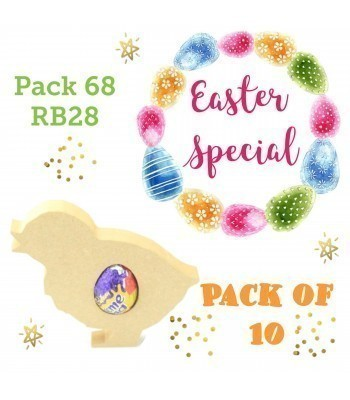 Special Offer 18mm Freestanding Easter Chick CREME EGG Holder - Pack of 10