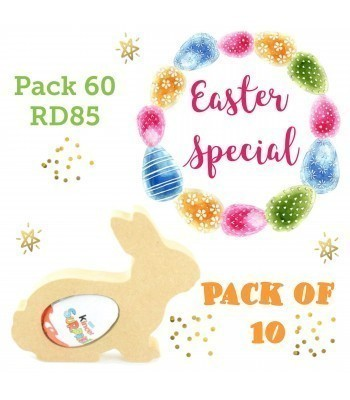 Special Offer 18mm Freestanding Easter Rabbit KINDER EGG Holder (Design 2) - Pack of 10