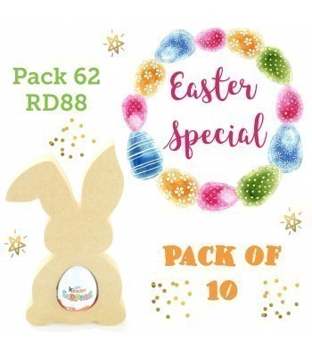 Special Offer 18mm Freestanding Easter Rabbit KINDER EGG Holder (Design 3) - Pack of 10