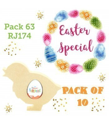 Special Offer 18mm Freestanding Easter Chick KINDER EGG Holder - Pack of 10