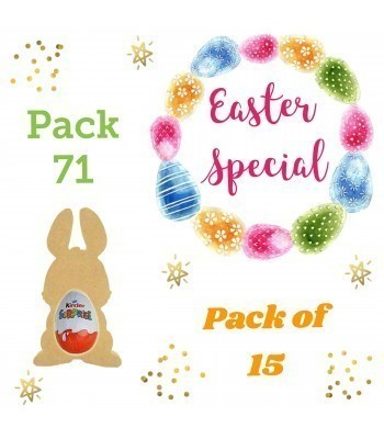 Special Offer 18mm Freestanding MINI Easter Rabbit (Design 2) KINDER EGG Holders - Pack of 15