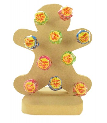 18mm Freestanding Christmas Gingerbread Man Lolly Pop Holder on a Stand