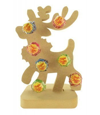 18mm Freestanding Christmas Reindeer Lolly Pop Holder on a Stand