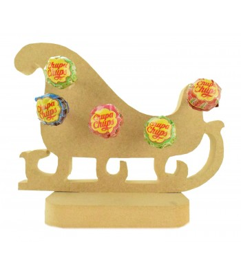 18mm Freestanding Christmas Sleigh Lolly Pop Holder on a Stand
