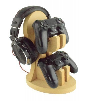 18mm Freestanding MDF Gaming Headset & Playstation or X Box Controller Double Holder Stand