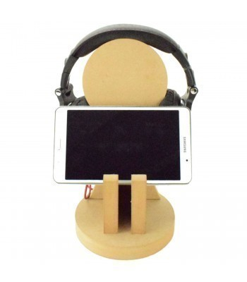 18mm Freestanding MDF Gaming Headset & Tablet Holder Stand
