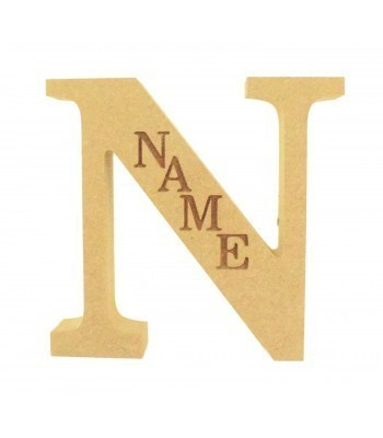 18mm Freestanding Personalised Laser Engraved Wooden Letter (BT)