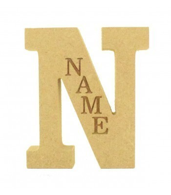 18mm Freestanding Personalised Laser Engraved Wooden Letter (CLA)