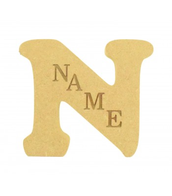 18mm Freestanding Personalised Laser Engraved Wooden Letter (COOPER)