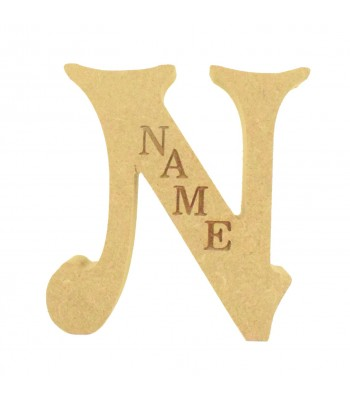18mm Freestanding Personalised Laser Engraved Wooden Letter (VIC)