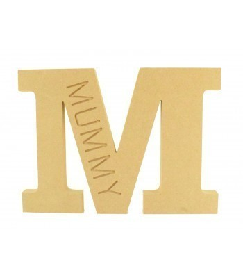 18mm Freestanding Router Engraved Letter M for Mum - Mummy