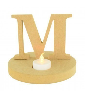 18mm Freestanding MDF Letter on a Tealight Holder Base