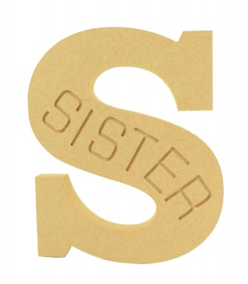 18mm Freestanding Router Engraved Letter S for Sister