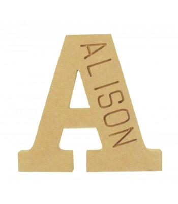 18mm Freestanding Personalised Router Engraved Wooden Letter (CLA)