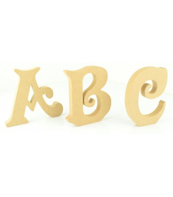 18mm Freestanding wooden Letters - VICTORIAN