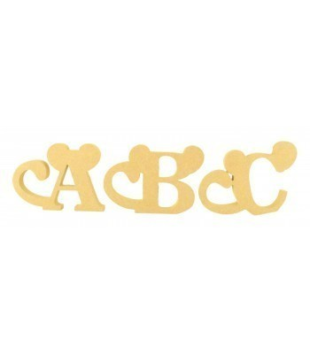 18mm Freestanding Wooden Cheeky Monkey Themed Letters - BT NEWS