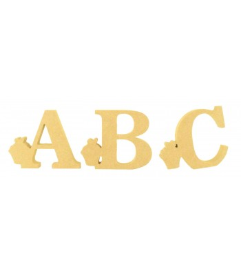 18mm Freestanding Wooden Cupcake Themed Letters - BT NEWS