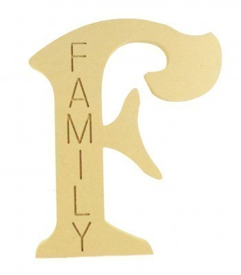 18mm Freestanding Personalised Router Engraved Wooden Letter (VIC)