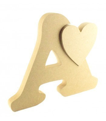 18mm Freestanding Small Letter with Linking Love Heart - 120mm