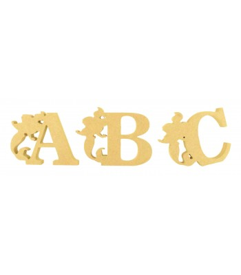 18mm Freestanding Wooden Mermaid Themed Letters - BT NEWS
