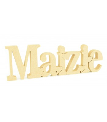 18mm Freestanding Linking Puzzle Letters - 150mm