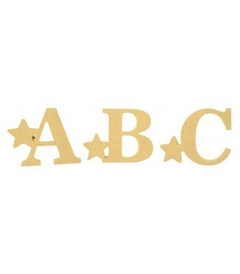 18mm Freestanding Wooden Star Themed Letters - BT NEWS