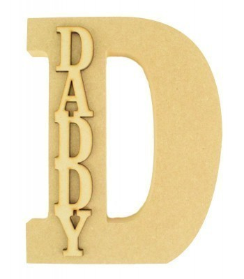 18mm Freestanding Wooden Letters with 3D Laser Cut Name