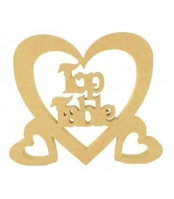 18mm Freestanding MDF Large Wedding 'Top Table' inside Heart