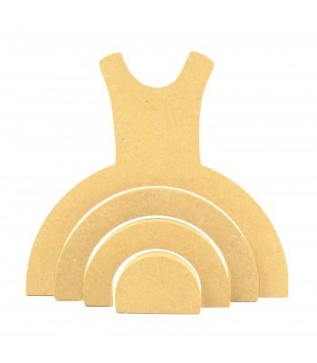 18mm Freestanding MDF Stacking Rainbow Shape - Dress