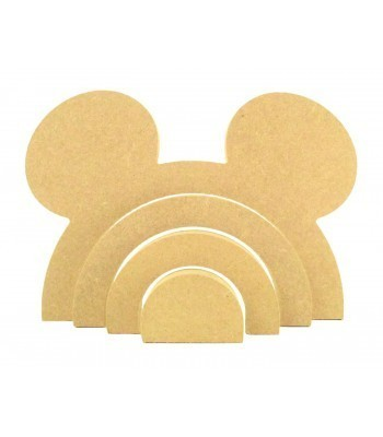 18mm Freestanding MDF Stacking Rainbow Shape - Mouse