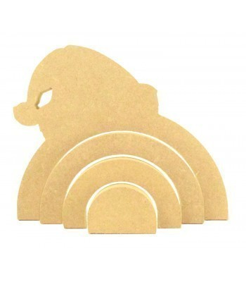 18mm Freestanding MDF Stacking Rainbow Shape - Santa