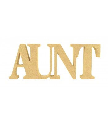 18mm Freestanding MDF 'AUNT' Small Joined Word - BT