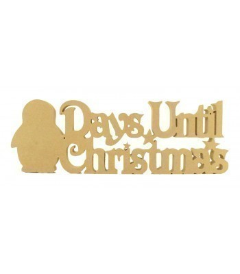 18mm Freestanding 'Days Until Christmas' Large Christmas Countdown - Penguin Design