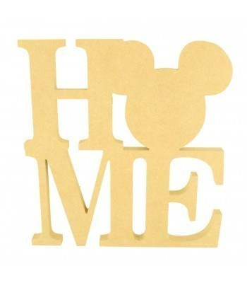 18mm Freestanding MDF Large 'HOME' word with a Mouse Head Shape