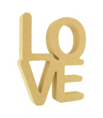 SPECIAL OFFER -- 18mm Freestanding MDF 'Love' Stacked Joined Word - AR
