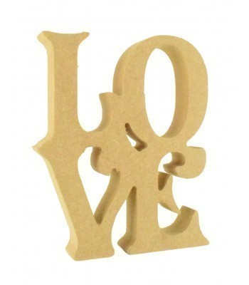 18mm Freestanding MDF 'Love' Stacked Joined Word - VIC