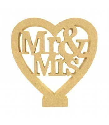 18mm Freestanding MDF 'Mr & Mrs' Mini Heart