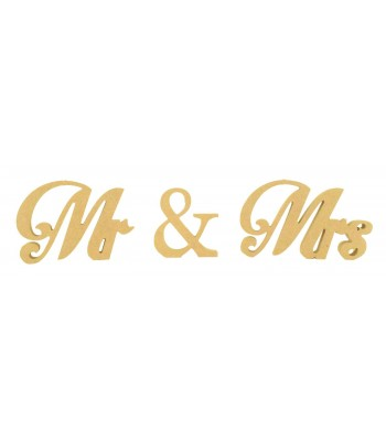 18mm Freestanding MDF Mr & Mrs Wording - Motion
